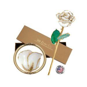 Long Stem Dipped 24k Gold Rose in Gift Box